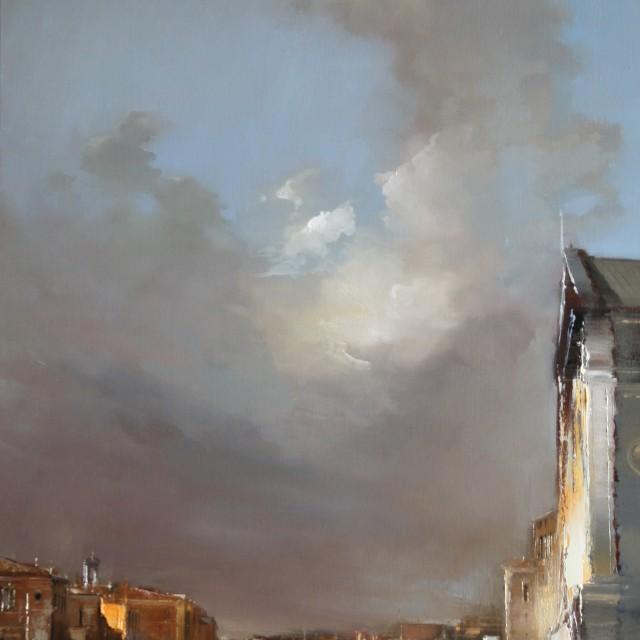 Venezia 12 146x89cm Huile sur toile