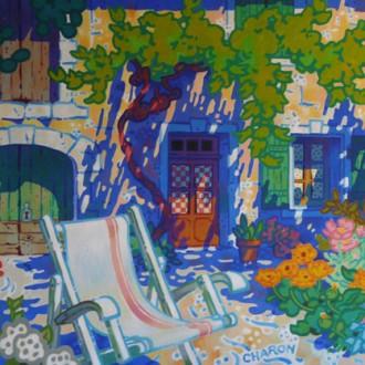 Asseyez-vous Huile sur toile - 97 x 130 cm