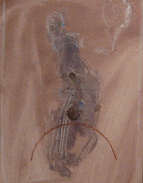 BRUNET - Le geste pernicieux - acrylique 27x17.5