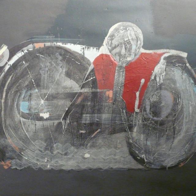 BRUNET - Les avatars du motard - hst 97x130