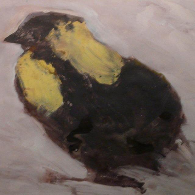 BRUNET - Poussin - acrylique et pastel 70x100