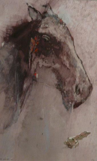 Cheval Acrylique et pastel - 25 x 15,5 cm - 2001-2003