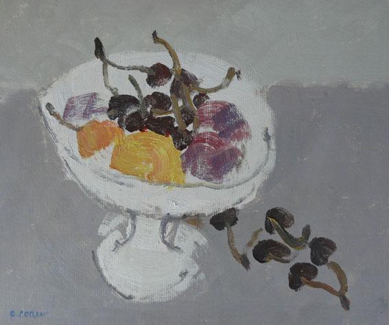Coupe de fruits Huile - 27 x 32 cm