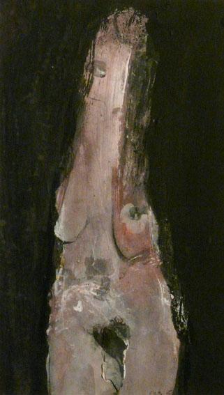 La 1ère dame de pique Techniques mixtes - 29 x 16,5 cm - 2005