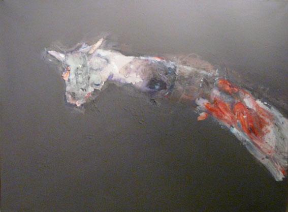 La corne encore tendre Huile sur toile - 97 x 130 cm - 2006