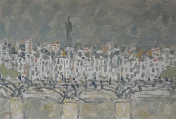 Le pont des Arts Huile - 38 x 55 cm