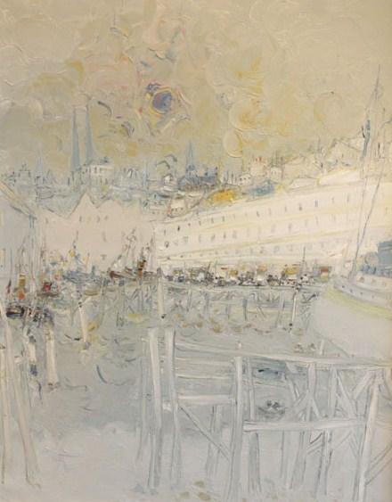 Ostende Huile sur toile - 71 x 51 cm - 1988