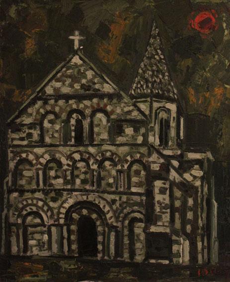 Saint Cybard de Plassac Huile sur toile - 73 x 60 cm - circa 1965