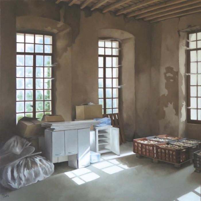 La filature - Les oignons II 80 x 80 (2016)