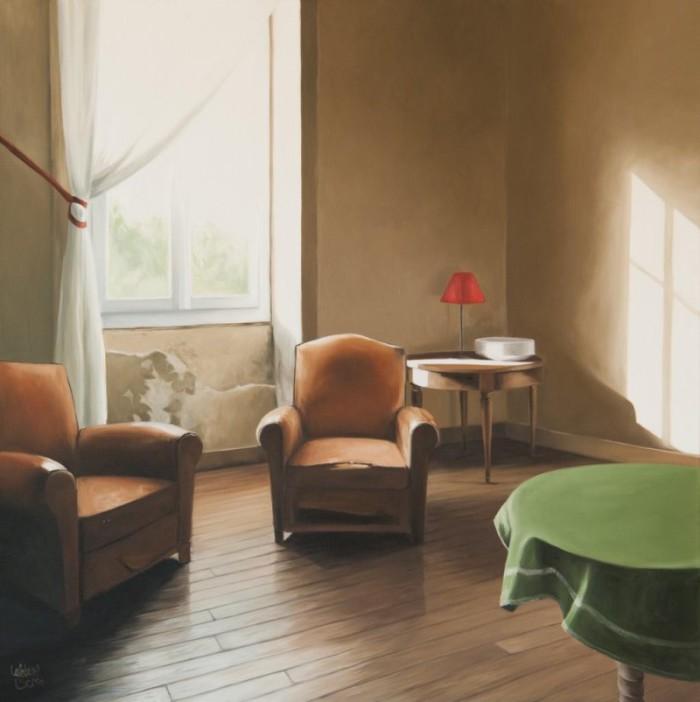 Le salon de Treignac II 80 x 80 - (2014)