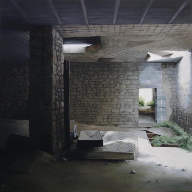 L'ancien moulin 80 x 80 (les matelas) (2015)