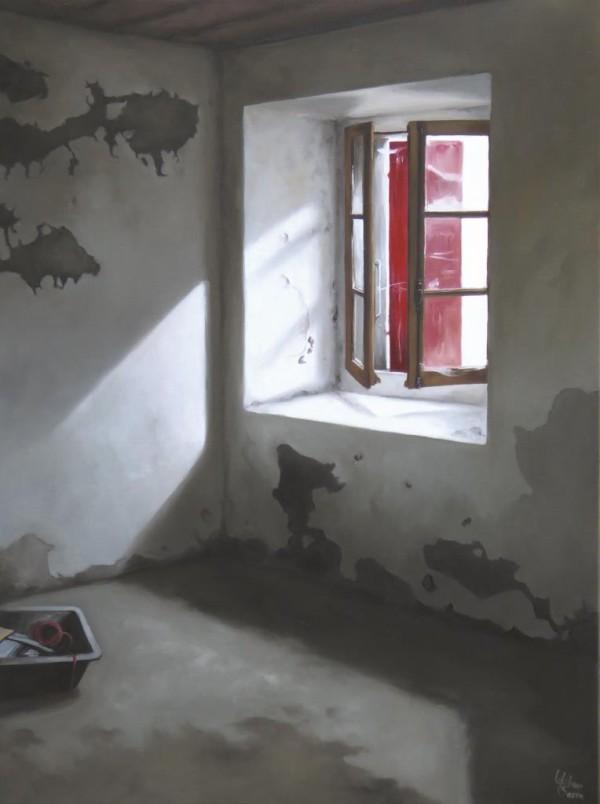 Les volets rouges 73 x 54 (2016)