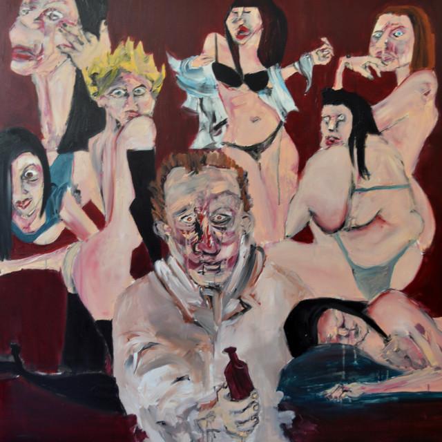 Henry Chinaski, Womens_100x100cm_CLUZEL