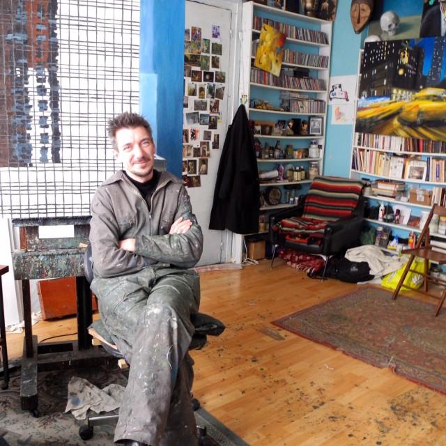 IVAN  Sollogoub dans son atelier