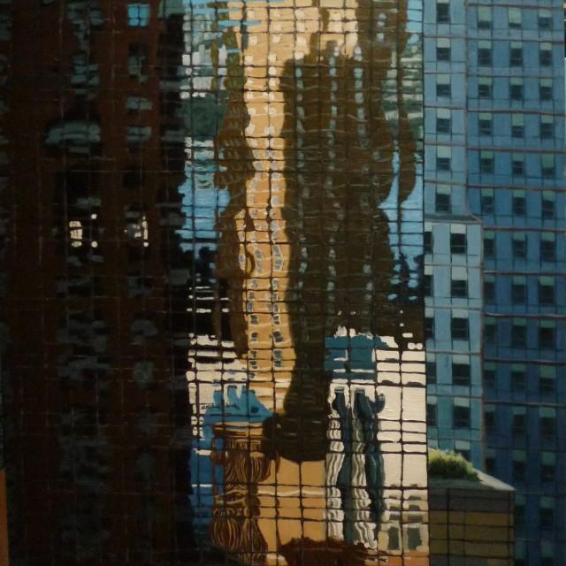 Reflexion #1, huile sur toile, 116x89cm