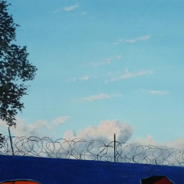 J'aime les nuages, huile sur toile, 92x60cm