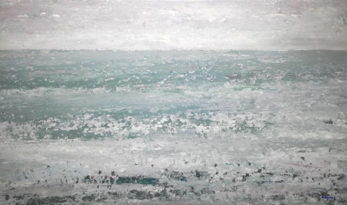 """André Depraz, """"01.08.2004"""", acrylique sur toile, 33x55cm"""