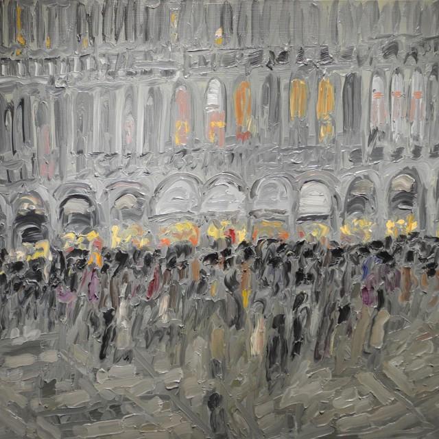 GAMBUS, Symphonie, huile sur toile, 81x100 cm