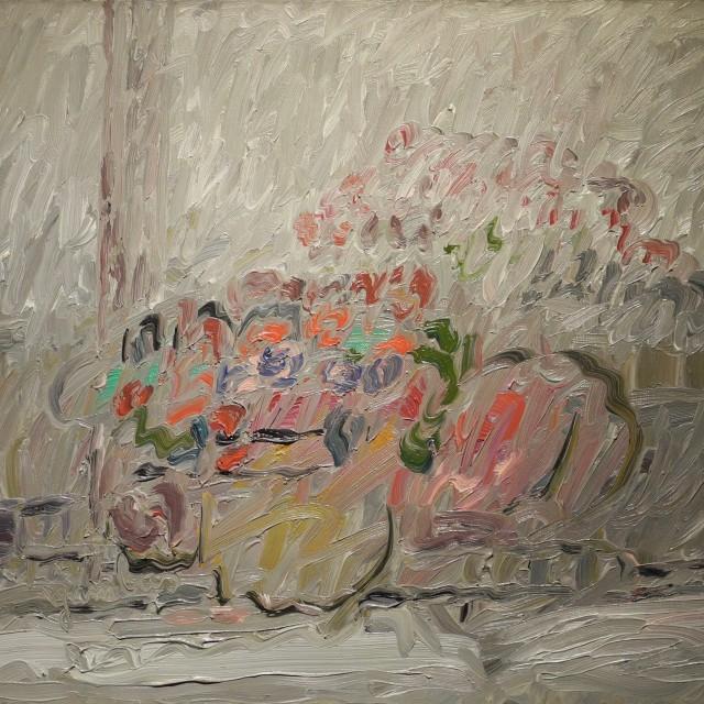GAMBUS, Reflet, huile sur toile, 50x61 cm