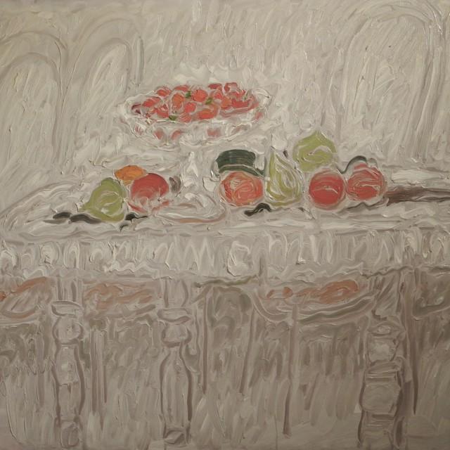 GAMBUS, Pour les yeux, pour le bec, huile sur toile, 81x100 cm